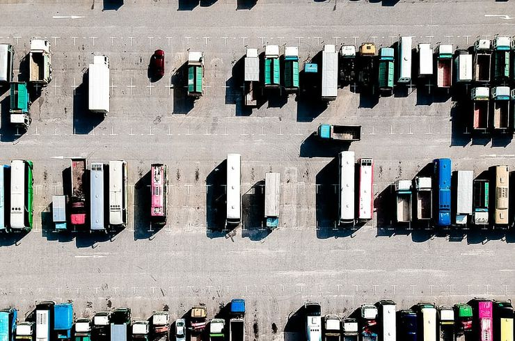 vehicle-truck-aerial-view-parking-lot